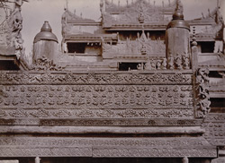 Carving on railing of [Salin] monastery, [Mandalay]
